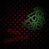圣诞快乐深红卡片 库存图片