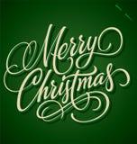 圣诞快乐现有量字法(向量) 免版税库存图片