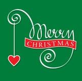 圣诞快乐现有量字法 免版税库存图片