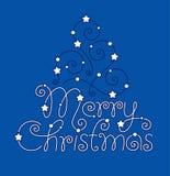 圣诞快乐现有量字法 库存照片