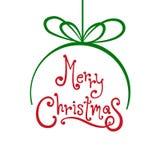 圣诞快乐球有白色背景 免版税库存照片