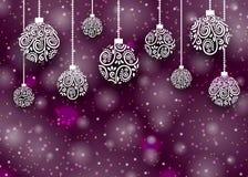 圣诞快乐球背景 免版税库存照片