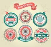 圣诞快乐的书法设计元素 皇族释放例证