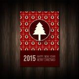 圣诞快乐的传染媒介平概念或愉快 免版税图库摄影