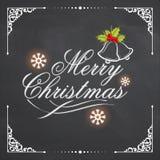 圣诞快乐的典雅的贺卡 皇族释放例证