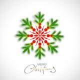 圣诞快乐的创造性的雪花 库存照片