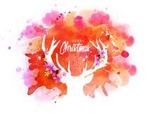 圣诞快乐的创造性的驯鹿 图库摄影