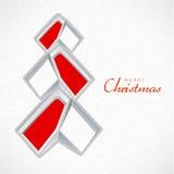 圣诞快乐的创造性的Xmas树 库存图片
