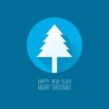 圣诞快乐的平的设计观念和 库存图片