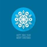 圣诞快乐的平的设计观念和 免版税库存图片