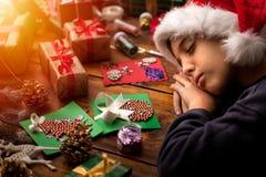 圣诞快乐的节日快乐概念和! 库存照片