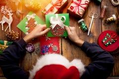圣诞快乐的节日快乐概念和! 图库摄影