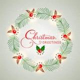 圣诞快乐的贺卡设计 库存照片