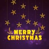 圣诞快乐的贺卡设计 图库摄影