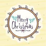 圣诞快乐的贺卡设计 免版税库存图片