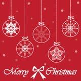 圣诞快乐看板卡,向量 免版税库存照片