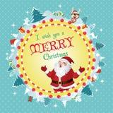 圣诞快乐看板卡 免版税图库摄影