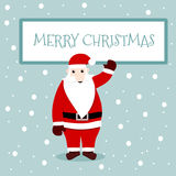圣诞快乐看板卡 库存图片