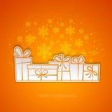圣诞快乐礼物贺卡 纸设计 库存照片