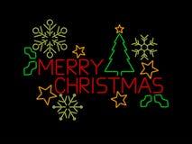 圣诞快乐符号 免版税库存图片
