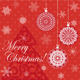 圣诞快乐红牌 库存照片