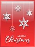 圣诞快乐纸裁减背景 免版税库存照片