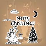 圣诞快乐纸 免版税库存照片