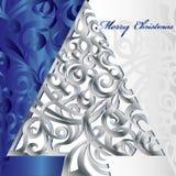 圣诞快乐结构树 库存照片