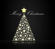 圣诞快乐结构树 免版税库存图片