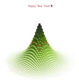 圣诞快乐绿色结构树设计 库存图片