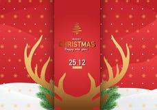 圣诞快乐背景传染媒介例证 库存图片