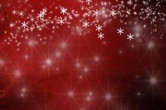 圣诞快乐背景雪花和星 免版税库存照片