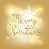 圣诞快乐艺术性的字样 库存图片