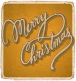 圣诞快乐葡萄酒卡片() 库存图片