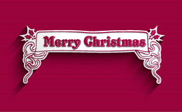 圣诞快乐葡萄酒标签 免版税库存照片