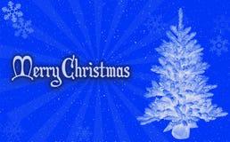 圣诞快乐蓝色背景 库存图片