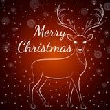 圣诞快乐褐色鹿 库存例证