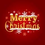 圣诞快乐金黄印刷传染媒介艺术 库存图片