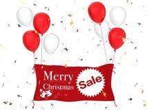 圣诞快乐销售横幅 库存图片