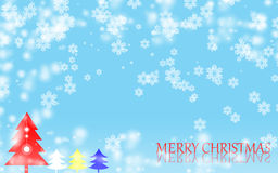 圣诞快乐雪花背景 免版税库存图片