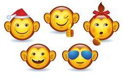 圣诞快乐面带笑容猴子 图库摄影