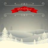 圣诞快乐风景 向量例证