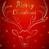 圣诞快乐马鹿头 向量例证