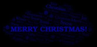 圣诞快乐!词云彩 库存例证