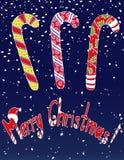 圣诞快乐,剪影传染媒介明信片 库存例证