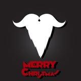 圣诞快乐,圣诞老人胡子和髭 图库摄影