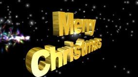 圣诞快乐,录影动画 股票视频