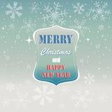 圣诞快乐,灰色树贺卡 免版税库存照片