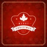 圣诞快乐贺卡光和 免版税库存照片
