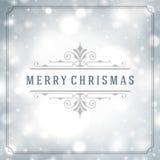 圣诞快乐贺卡光和 免版税库存图片